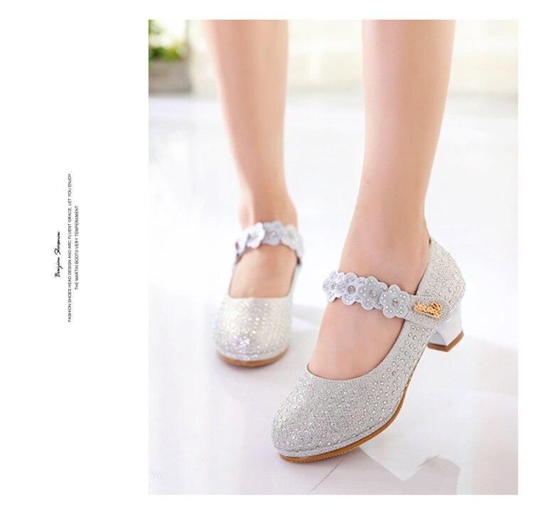Sapatos Princesa Sapatos De Couro Crianças Meninas