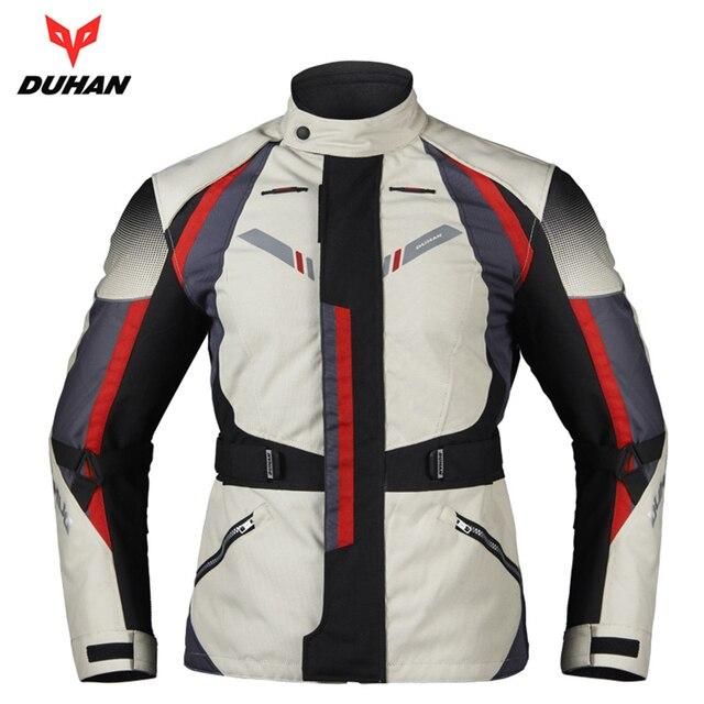 831f32d91c75b Duhan motocicleta chaqueta motocross equipo Gear hombres motocicleta a  prueba de frío moto Oxford tela algodón