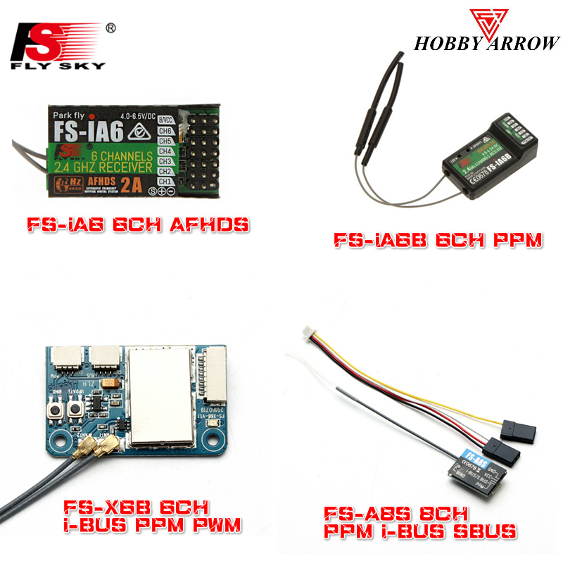 FLYSKY 2.4G IA6 IA6B X6B A8S V2 R6B GR3F GR3E R9B X8B IA10B RC FPV Racing Drone Car Receiver For I6 I6s I6x Transmitter