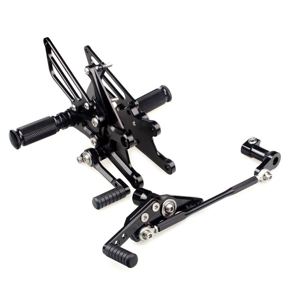 BIKINGBOY Rearsets Rear Sets Foot Pegs Rests for HONDA CBR1000RR CBR 1000 RR Fireblade ABS 09 10 11 12 13 14 15 16 Adjustable