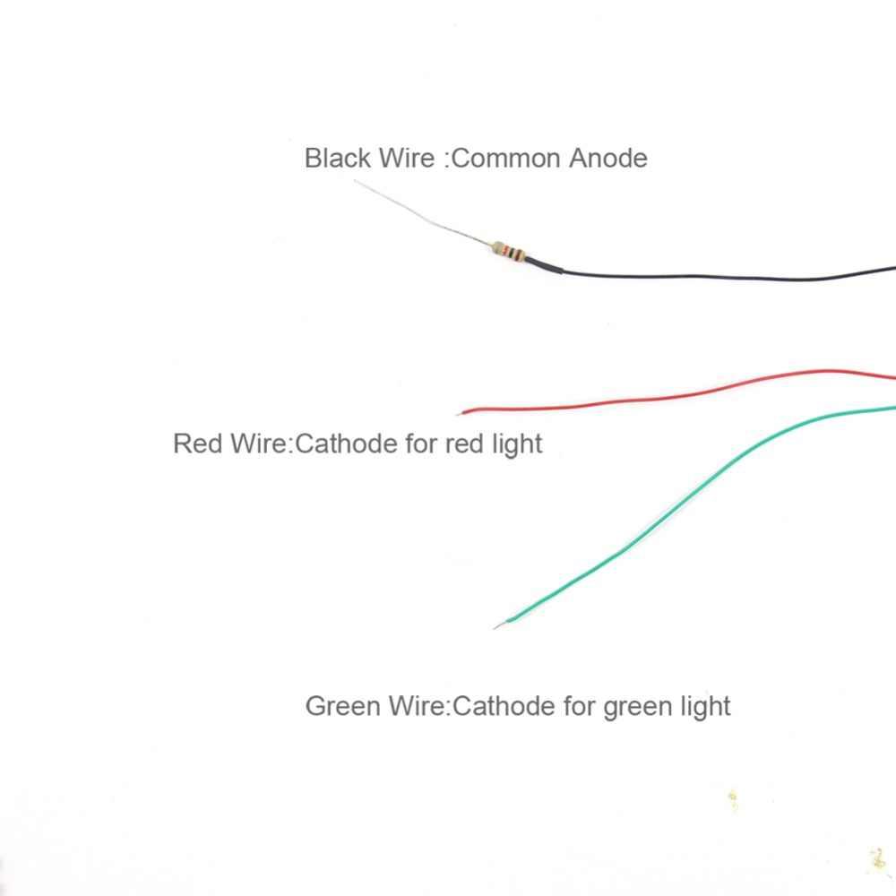 medium resolution of  5pcs model railway 2 light block signals green red ho scale 6cm 12v led