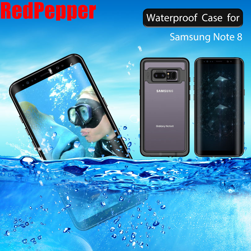 newest 5f0de 7a14d US $12.52 26% OFF|For Samsung Galaxy Note 8 Note9 Case Original RedPepper  Dot Series IP68 Waterproof Diving Underwater PC + TPU Armor Cover SN84-in  ...