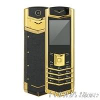 Luxury Metal Body M6i Bar Cellphone Bluetooth Dial Leather Senior Single Sim 3800mah Mobile Phone