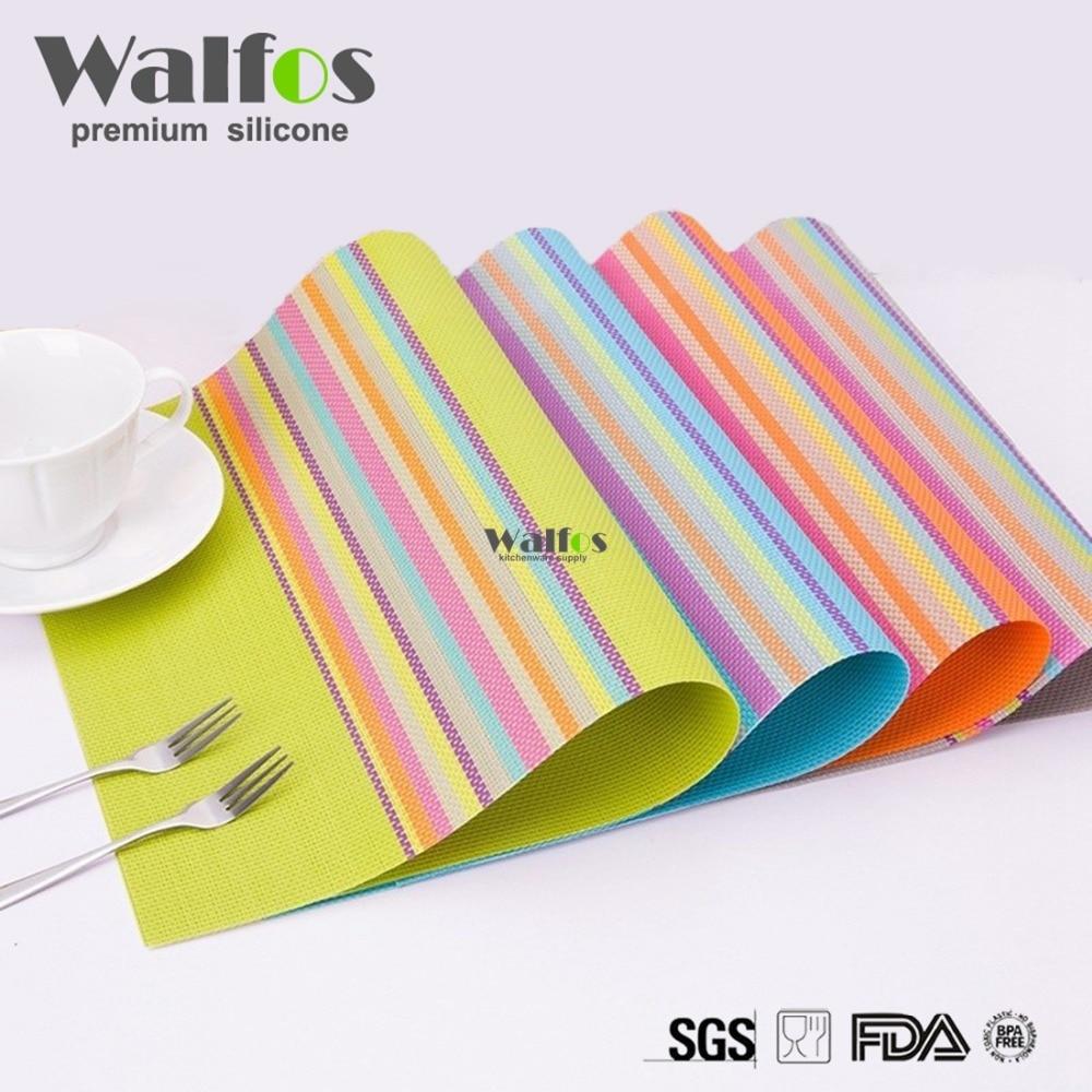 Lot Pvc Placemat Bar Mat Acessorios 30*45cm Plate Mat Table Mat