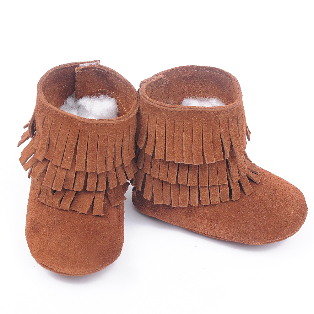 How To Clean Suede Images Newknowledgebase Blogs Brown  : New 100 Genuine Leather Toddler suede Baby boots Moccasins Three layer tassel Baby soft Shoes First from favefaves.com size 1000 x 1000 jpeg 701kB