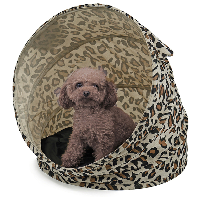New Dog Tent Dog Kennel Foldable Leopard pattern Medium Puppy Dog Cat House Fashion Design for  sc 1 st  AliExpress.com & New Dog Tent Dog Kennel Foldable Leopard pattern Medium Puppy Dog ...