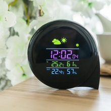 Big discount Smart Multi-functional Weather Station Color LED In Outdoor Electronic Thermometer Hygrometer Home Wireless Comma Weather Clock