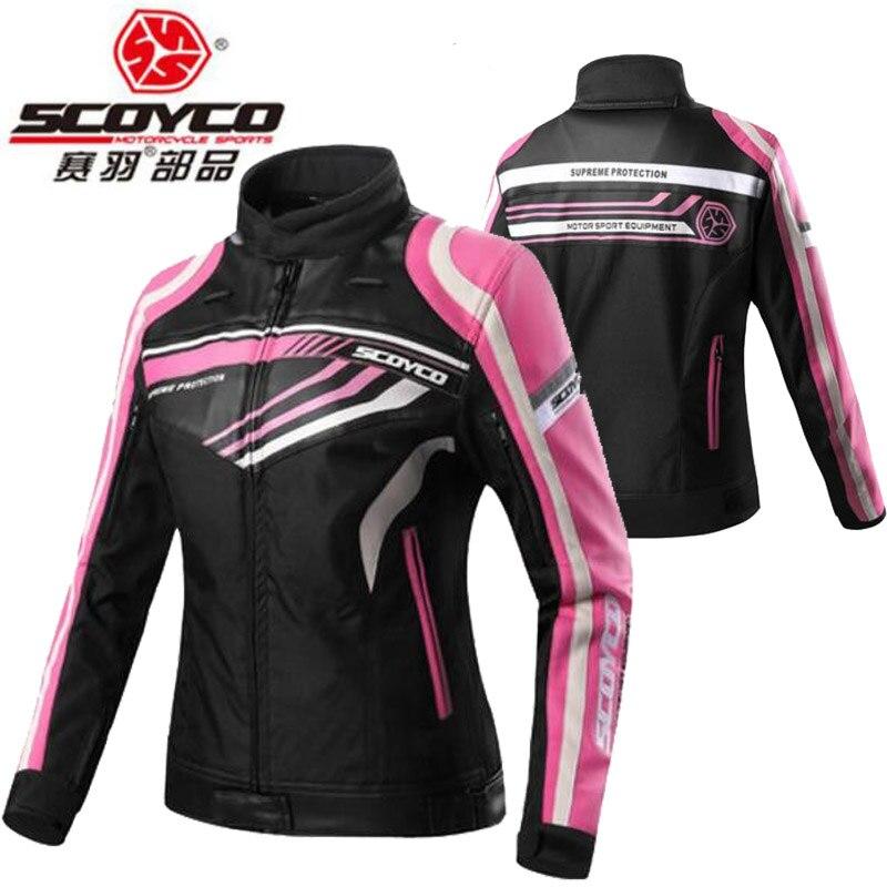2018 nouvelles dames moto équitation équipement veste femmes chevalier équipement JK37W dame moto vestes de tissu Oxford et PU