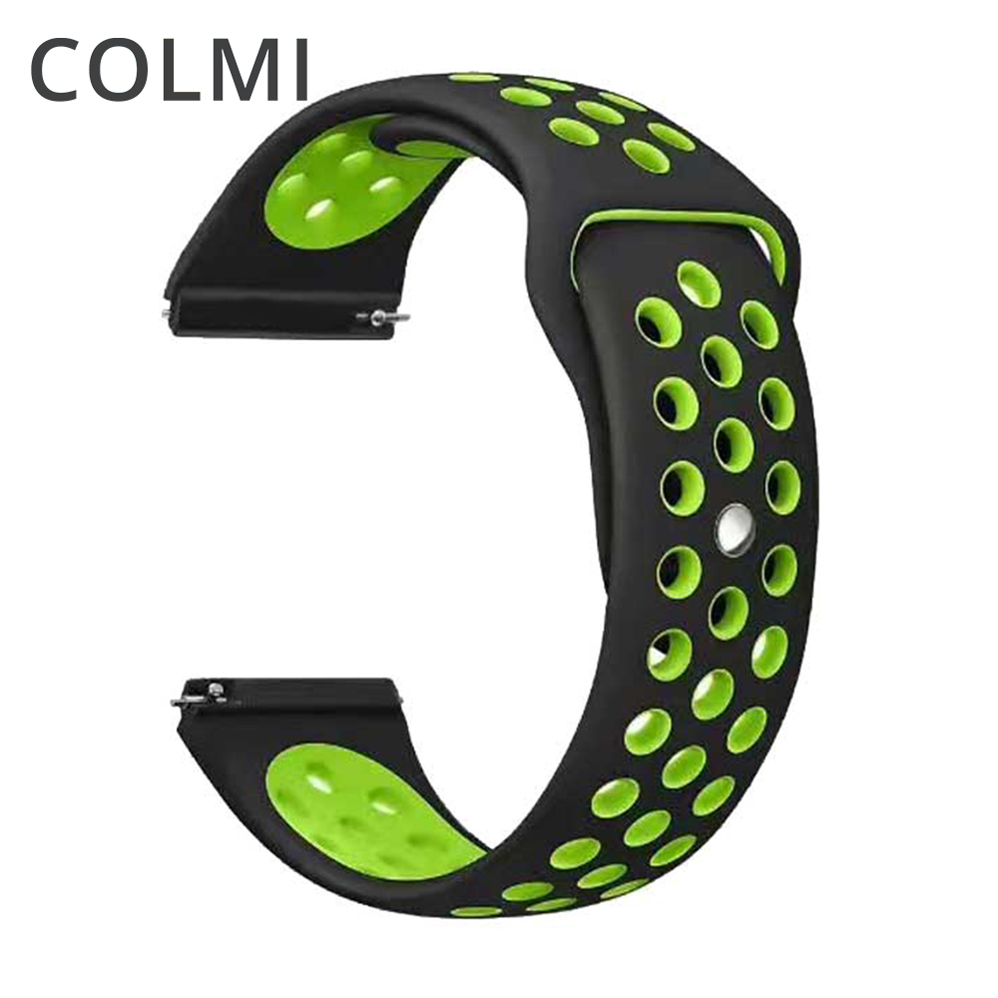 20MM Silicone Strap For Samsung Gear Sport S2 S3 Classic Frontier Watch Band For Huami Amazfit Pace Bip BIT Lite Huawei Watch 2