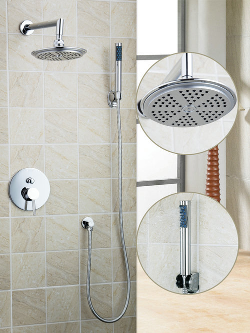 Bathroom Wall Shower Set Torneira Round 8 ABS Shower Head Rainfall 50234-42A Bathtub Chrome Sink Vessel Tap Mixer Faucet sognare new wall mounted bathroom bath shower faucet with handheld shower head chrome finish shower faucet set mixer tap d5205