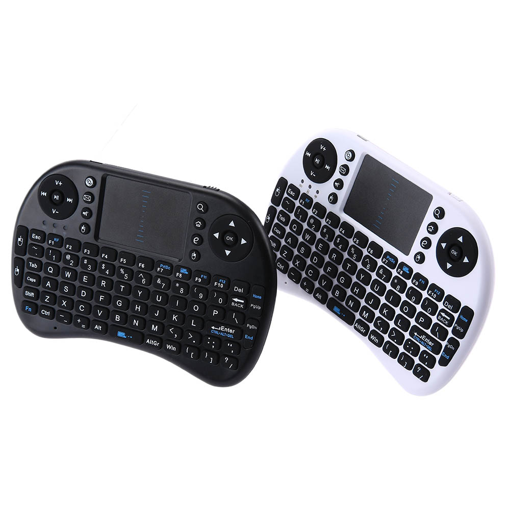 810-21 I8 2.4GHz Mini Wireless QWERTY Keyboard with Touchpad Mouse KP