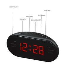 AsyPets New Fashion Modern AM/FM LED Clock Radio Electronic Desktop Alarm Clock Digital Table Clocks Snooze Function-25