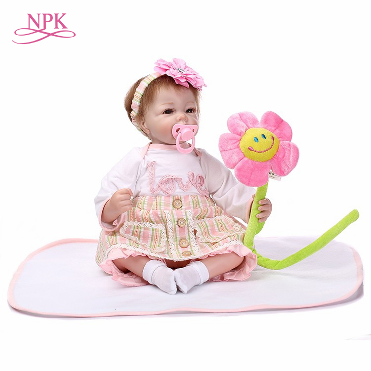 NPK reborn doll with soft real gentle touch Free shipping very soft 22inch baby doll lifelike soft silicone vinyl