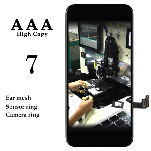 10pcs Phone Repair Replacement Spare Parts For iPhone 7 LCD Display No Dead Pixel Black White Pantalla For iPhone 7G LCD Screen