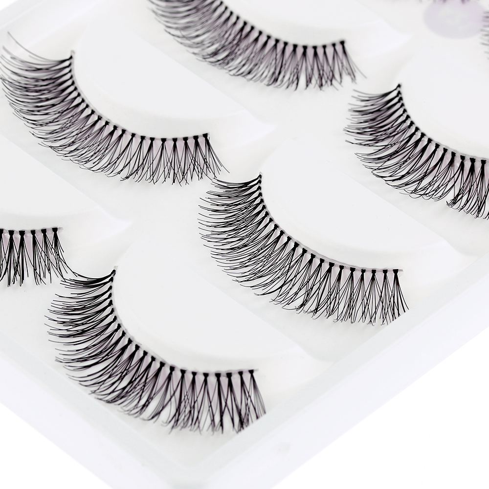 5 Pairs/pack Natural Sparse Cross Eye Lashes Extension Makeup Long False Eyelashes Free Shipping