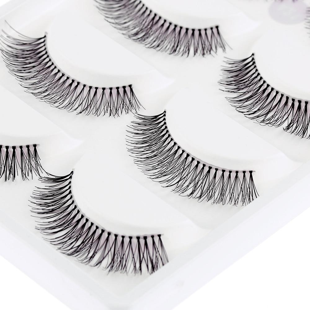 5 Pairs/pack Natural Sparse Cross Eye Lashes Extension Makeup Long False Eyelashes Free Shipping