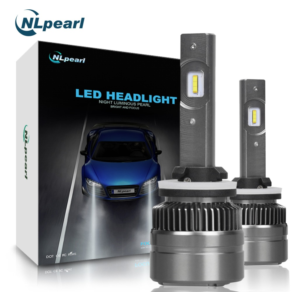 NLpearl 6000K 16000LM/Pair Csp Auto Car Lights Fog H27 880 881 led Headlight Bulbs H4 H7 H1 H11 H3 9012 9005 9006 Super Led 12V auto headlight h1 led lamp with csp 6000k 35w 12 volt 880 881 h27 bulb led lampada car accessory kit led h1 360 diode head light