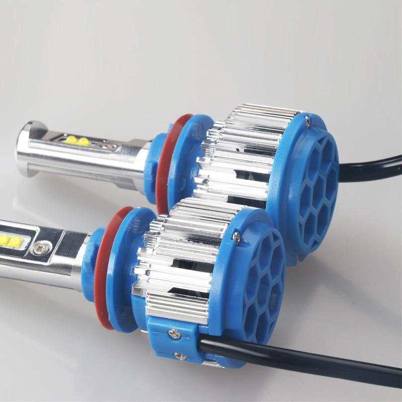 LED fənər H4 40W6000LM Hi-Lo şüa avtomobili LED - Avtomobil işıqları - Fotoqrafiya 4