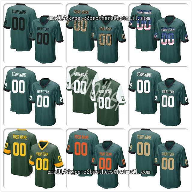 20d2ed959f2 Custom Green Mesh Replica Football Game Jersey Embroidered High School Team  Logo Name And Your Numbers Men Women Adult China OEM