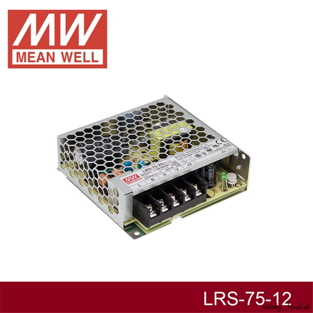 power supply rs-75-12 LED transformateur alimentation de 12v//dc//72w//6a MeanWell