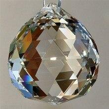 Прозрачный 20 мм граненый стеклянный хрустальный шар призма люстра Хрустальные детали подвесной светильник шар Suncatcher