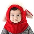 Natal Da Criança Recém-nascidos Do Bebê Chapéus Com Orelhas Beanie Malha Caps cachecol com capuz xaile crianças meninas meninos chapéu earflap cap quente cachecol