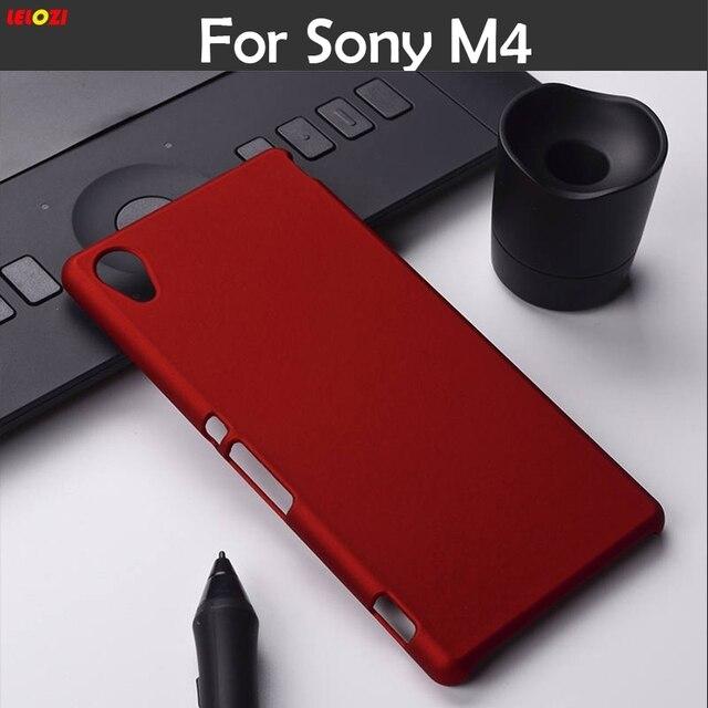the latest e573c f9c46 US $5.49 |LELOZI For Sony Xperia M4 Aqua Dual E2303 E2333 E2353 M4Aqua  Frosted Back Cover Hood Hybrid Case Oil coated Rubber Hard Case-in  Half-wrapped ...