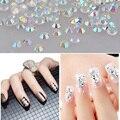 1000 pçs/saco 2017 New Nail Art Pedrinhas Cristal Transparente AB Pedras Unhas Pregos Arte Para DIY Acessórios de Beleza Manicure