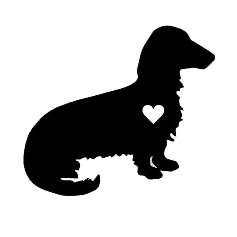 DACHSHUND DOG SILHOUETTE Vinyl Decal Sticker