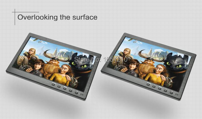 Ouchunagbo 10.1 Inch HD ips auto lcd scherm 1024*600 scherm AV VGA BNC HIMI ingang 1080 P Video 2 way video input - 6