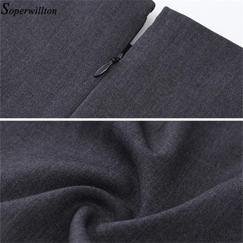 2019 New Summer Office Dress Women Elegant O-neck Sleeveless Knee Length Black Grey Wear to Work Sheath Ladies Dresses #BD725 5