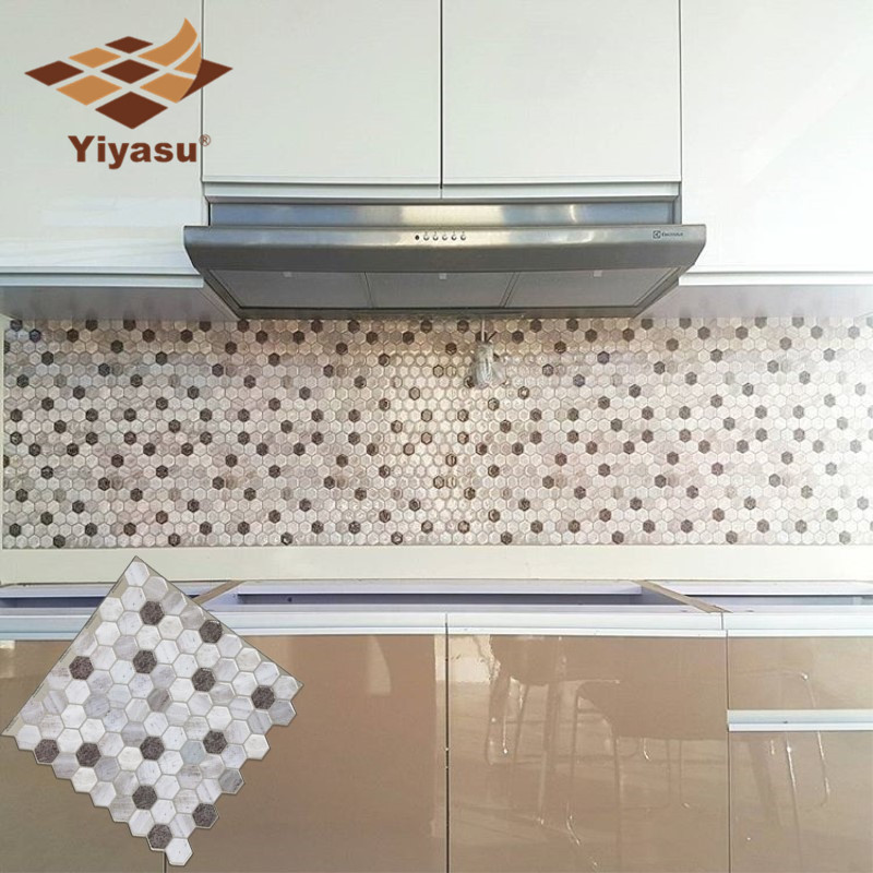 Peel And Stick Wallpaper In Bathroom: 3D Stone Mosaic Tile Self Adhesive Peel And Stick