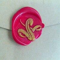 Snake Wax Seal Stamp Wedding Stamp Sealing Wax Party Wax Seal Stamp Initial Wax Seal Stamp