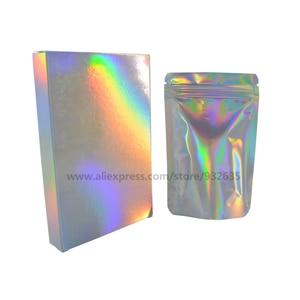 Image 4 - Голографическая коробка для подарков, 50 шт., вечерние коробки для бумаги, чехол для лазерной карты, коробки для подарков, косметика, посылка, коробки для конфет, свадебные любимые