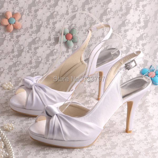 ФОТО High Heels for Wedding Knot Sandals with Platform Dress Custom Color Footwear Women
