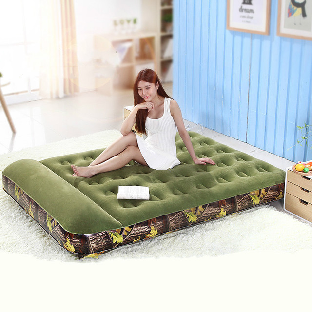 Camouflage inflatable mattress household portable outdoor air cushion bed double bed tent bed gas