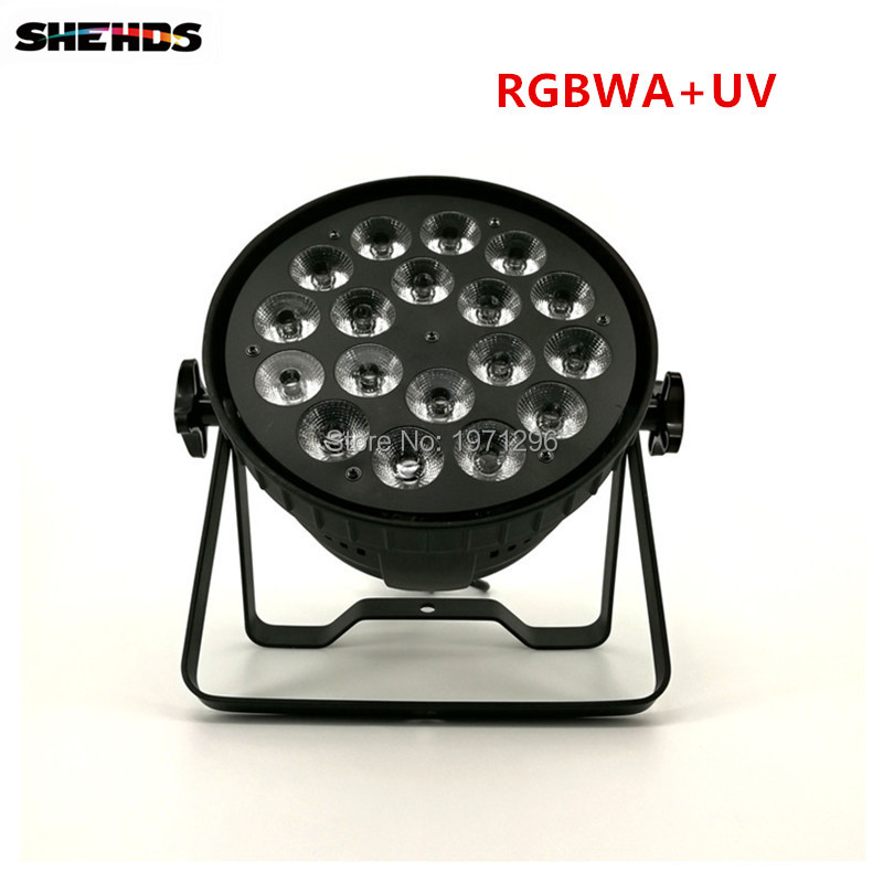 2 pcs Mini LED Par Can 18x18W RGBWA+UV DMX Stage Lights Business Light High Power Light with Professional for Party KTV Disco DJ niugul dmx stage light mini 10w led spot moving head light led patterns lamp dj disco lighting 10w led gobo lights chandelier