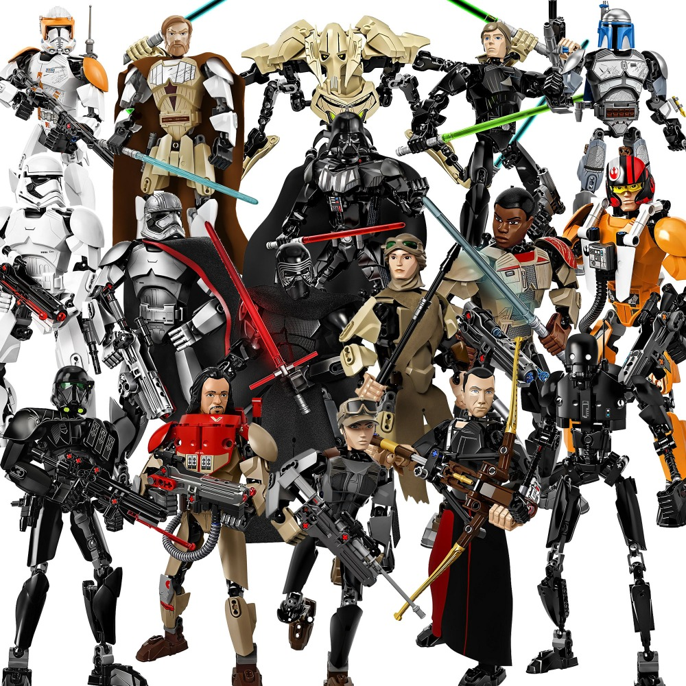 Star Wars building blocks Darth Vader Storm Trooper General Grievous K2SO Death Troope toys Rogue One action figures mini bricks customize vinyl cloth print 3 d night city scenery wallpaper photo studio background for portrait photography backdrops cm 5883