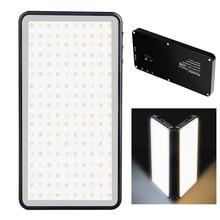 Manbily MF 06 ściemniania LED lampa wideo Ultra cienki wyświetlacz OLED 96 sztuk diod LED CRI96 + Bi kolor zdjęcie lampa studyjna dla lustrzanki cyfrowe