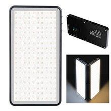 Manbily MFL 06 Dimmable LED Video Light Ultra Thin OLED Display 96Pcs leds CRI96+ Bi Color Photo Studio Light for DSLR Cameras