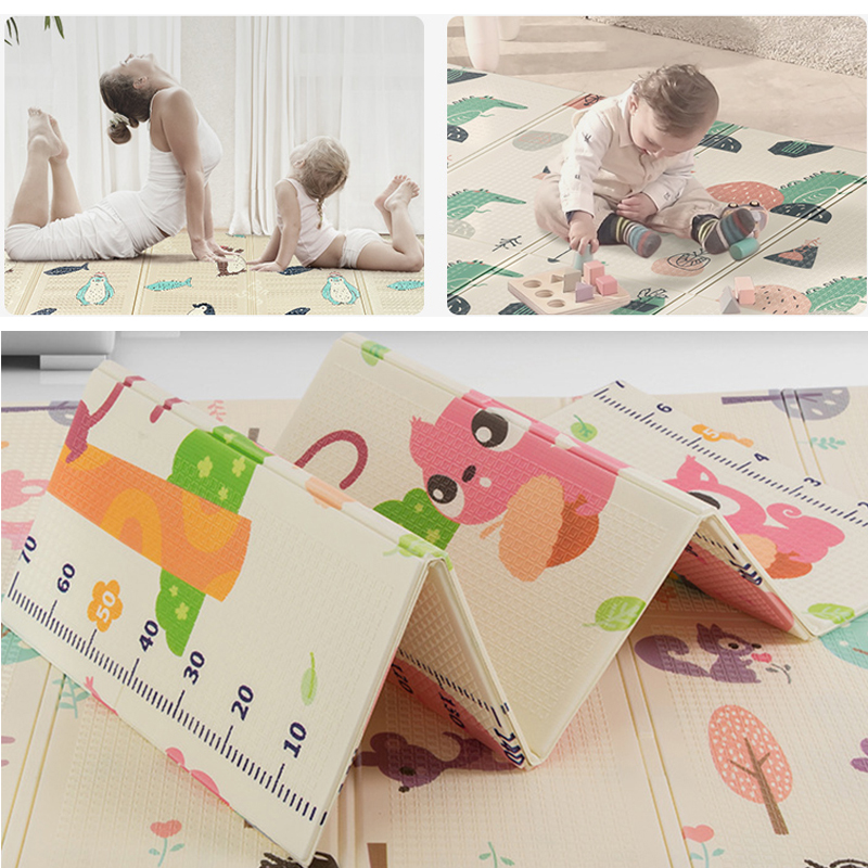 Infant Baby Foldable Yoga Play Mat Thickened Home Baby Room Splicing Xpe Puzzle Child Climbing Mat Yoga Folding Mat Baby Carpet