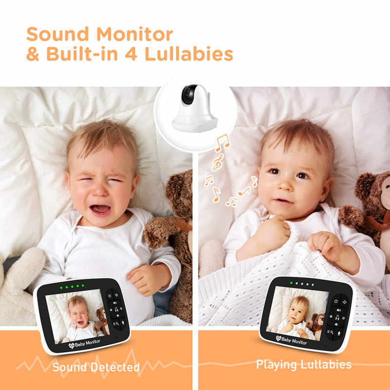3,5 ''высокое разрешение Детский Монитор инфракрасного ночного видения беспроводной видео детский спящий монитор с удаленной камерой Pan-Tilt-Zoom
