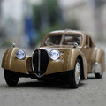 Retro Car Model toys Bugatti car 1:32 scale Alloy models diecast  Convertible Sound/Light  collection model  pull back cars Toys