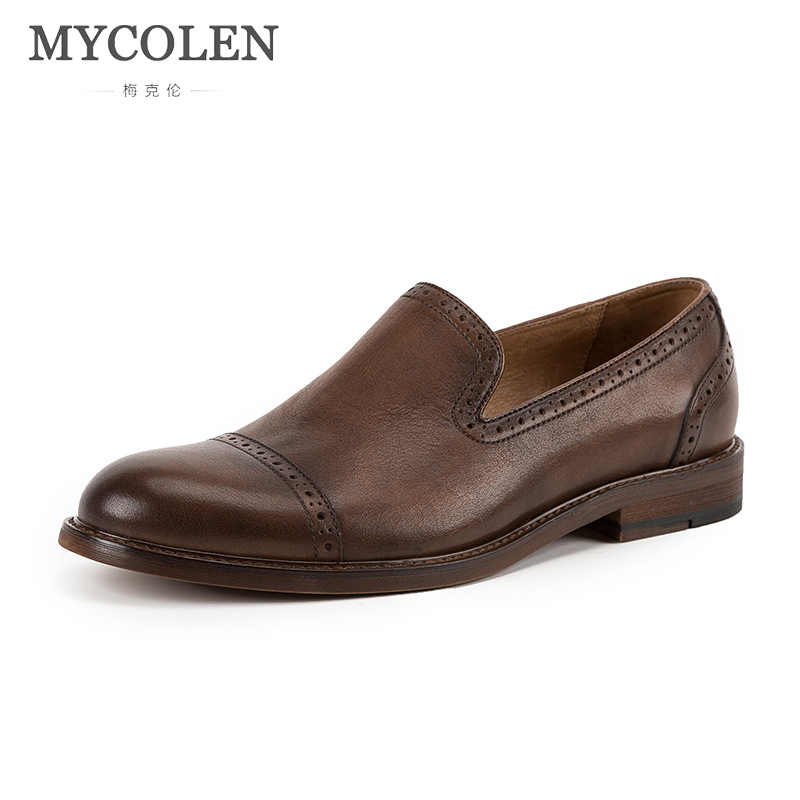 MYCOLEN Brand Fashion Spring/Autumn Style Soft Moccasins Men Loafers High Quality Genuine Leather Shoes Men Flats Driving Shoes brand 2018 new comfortable casual shoes loafers men shoes high quality driving shoes fashion trends spring and autumn bh a0054