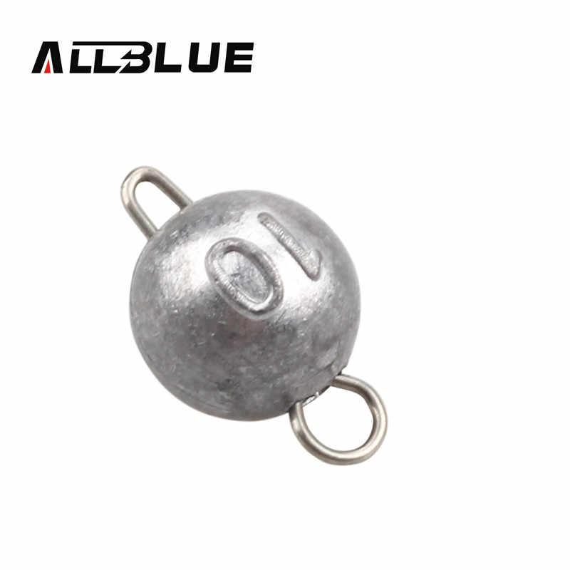 משקולות 6 Bullet יח'\חבילה ALLBLUE Sinker משקל 2 גרם/5 גרם/7 גרם/10 גרם משקולות כדור טקסס-חיבל מסוף להתמודד עם דיג ופש