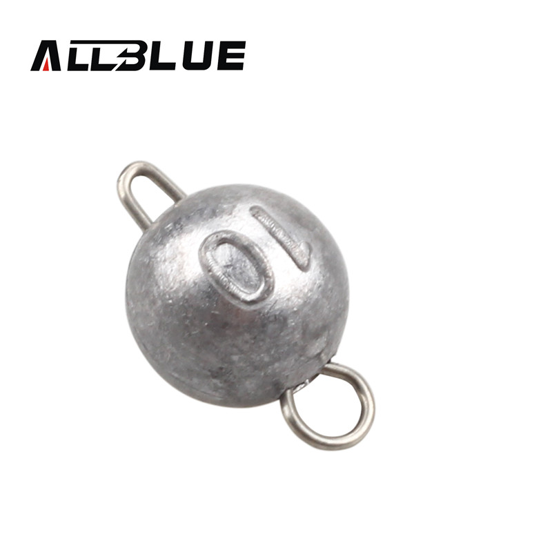 ALLBLUE 6pcs/lot Bullet Weights Sinker Weight 2g/5g/7g/10g Bullet Weights Texas-rigging Terminal Tackle Fishing Tackle Peche