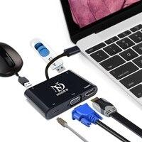 Free Shipping Mini DP Mini Displayport To VGA HDMI Female 2 In 1 Adapter For MAC