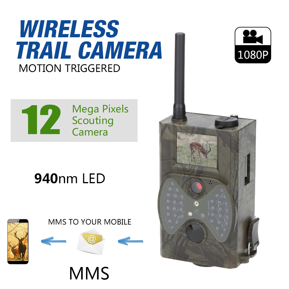 Lixada HC350M HC550M Wildlife Trail Photo Trap Hunting Camera 1080P Video Night Vision MMS GPRS Infrared for Security Farm Fast in Hunting Cameras from Sports Entertainment
