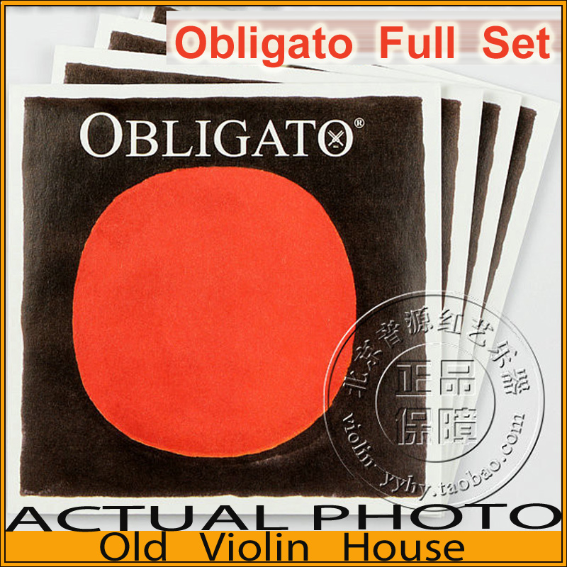 Original Pirastro Steel E Obligatoi violin strings (411521), Medium with Ball-End,full set,made in Germany,Free shipping free shipping evah pirazzi violin strings full set ball end made in germany for 4 4
