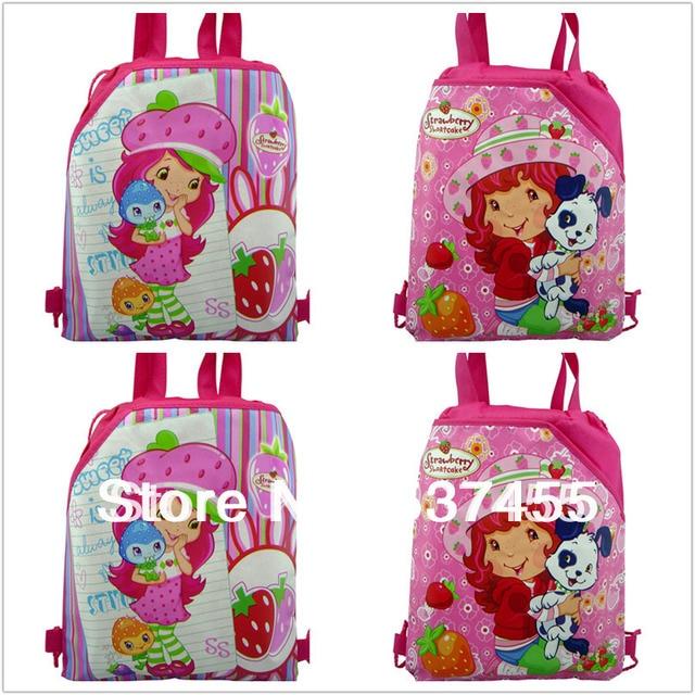 88676c6684 New arrival 12Pcs Strawberry girl children school bags